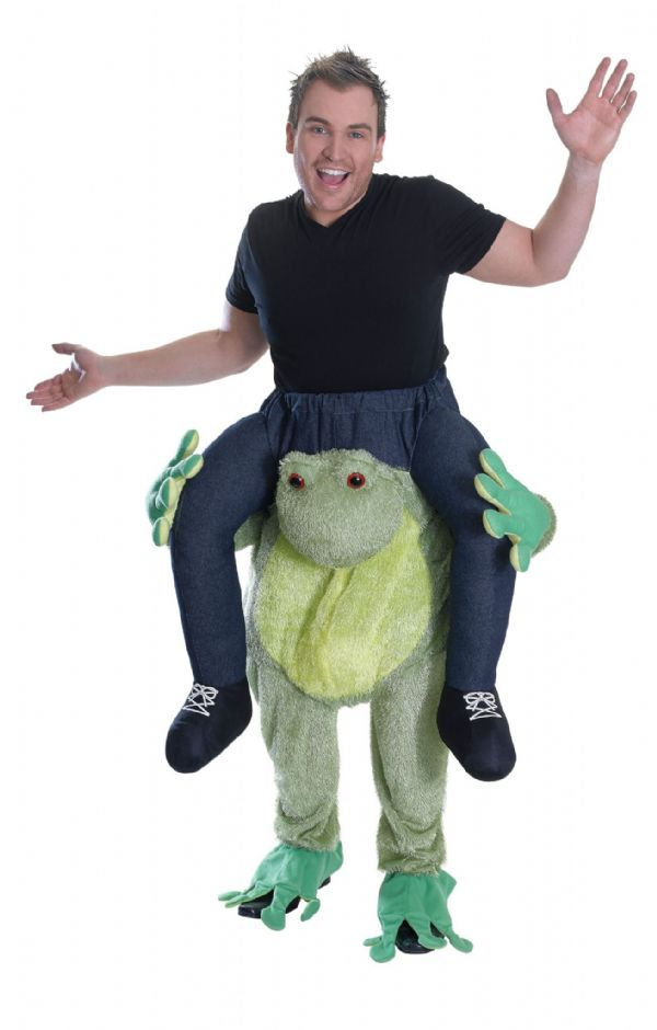 Adults Piggy Back Frog Costume Pig Farm Animal Porky Peppa Fancy Dress Outfit
